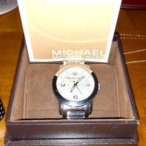 Michael Sterling silver link watch